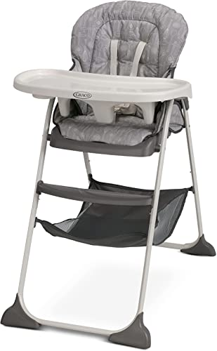 Graco Slim Snacker High Chair, Ultra Compact High Chair, Whisk