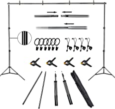 $43 » FUDESY Backdrop Stand 7x10Ft Adjustable Photography Background Support System Kit for Photo Video Studio with Carry Bag,Sp...