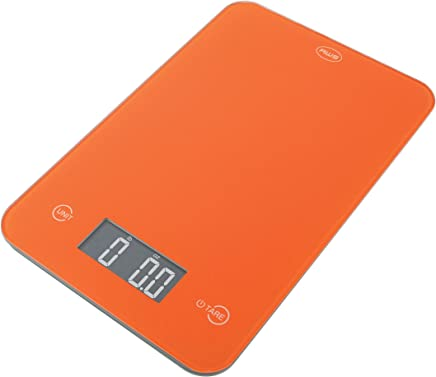 American Weigh Scales ONYX-5K-OR Slim Design Kitchen Scale, 11-Pound by 0.1-Ounce, Orange