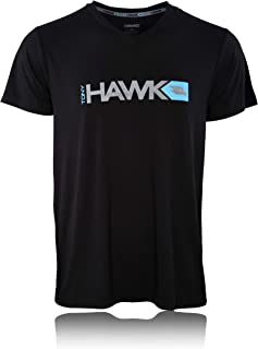 Tony Hawk Mens Lounge Shirt - Super Soft Jersey V-Neck T Shirt Spandex/Polyester Blend Birdman Sleep Pajama