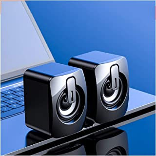 CMDZSW Computer Speakers USB Wired Speakers 3D Stereo Surround Sound Speakers for PC Notebook Computers, Non-Bluetooth Spe...