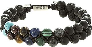 Men's Multi Color Stone Double Strand Adjustable Bracelet...