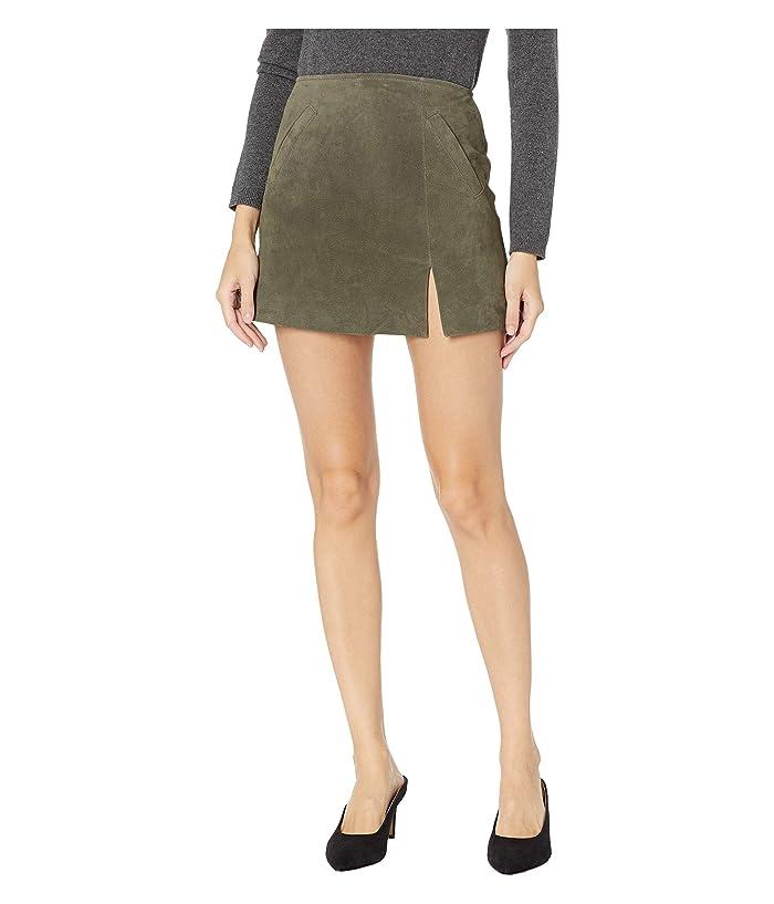 Blank NYC Suede Skirt w/ Side Slit (Herb) Women