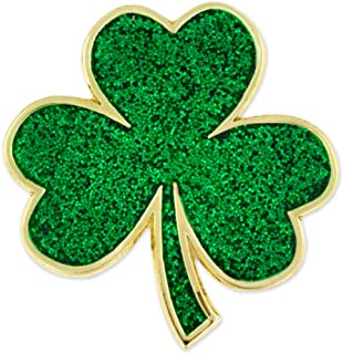 PinMart's Green Shamrock St. Patrick's Day Clover Magnetic Lapel Pin Jewelry