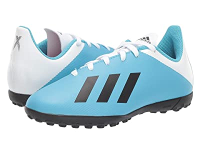 adidas Kids X 19.4 TF Soccer (Little Kid/Big Kid) (Bright Cyan/Black/Shock Pink) Kid