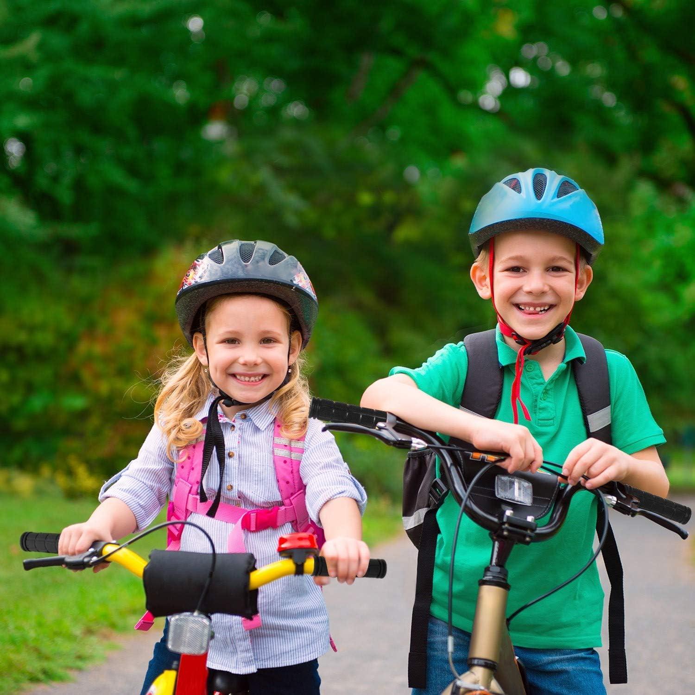4 Pairs Bicycle Handlebar Grips Bike Grips Non-Slip Rubber Mushroom Grips for Kids Boys Girls