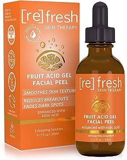 مراقبت از پوست طبیعی آلفا هیدروکسی اسید ، اسید گلیکولیک ، ژله لایه بردار اسید میوه - تازه کردن مواد ضروری