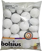 Bolsius Floating Candle, White, Paraffin Wax, 4.5cm w X 3cm h