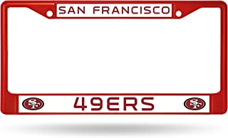 Rico Industries NFL San Francisco 49ers Colored Chrome Plate Frame, Red