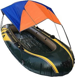 Uppblåsbar kajak markis tält solskydd roddbåt fällbart solskydd gummi fiske båt baldakin för 4 personer