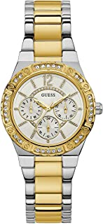 Guess Unisex Gold Dial Stainless Steel Band Watch - U0845L5
