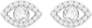 Luckily Evil Eye Pierced Earrings - White - 5377741