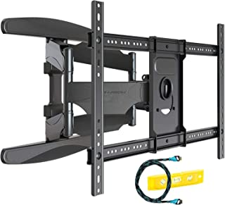 Support TV Mural avec Fixation Ultra Résistant pour écrans 94-178 cm/37-70 Pouces, Bras à Pivot avec Inclinaison, Comprend...
