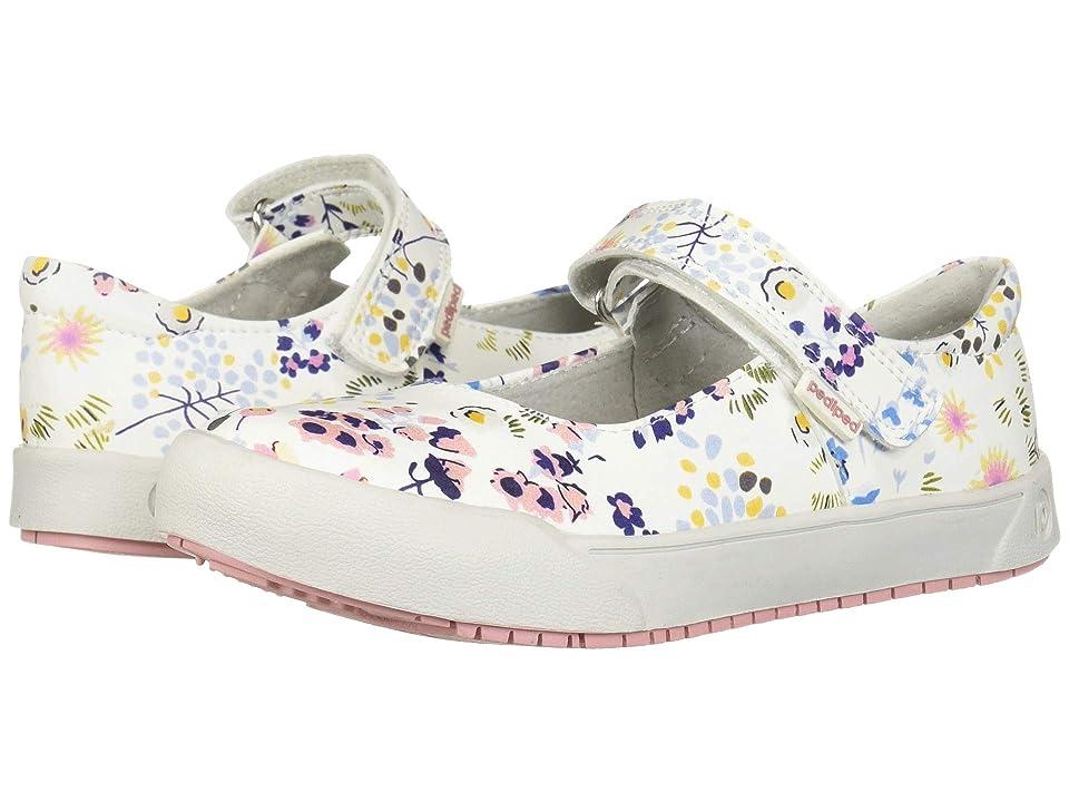 pediped Barbara Flex (Toddler/Little Kid) (White/Floral) Girl