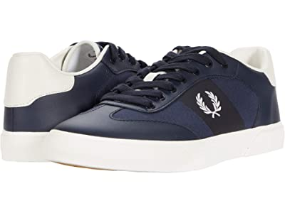 Fred Perry Clay Leather Poly (Navy/Snow White) Men