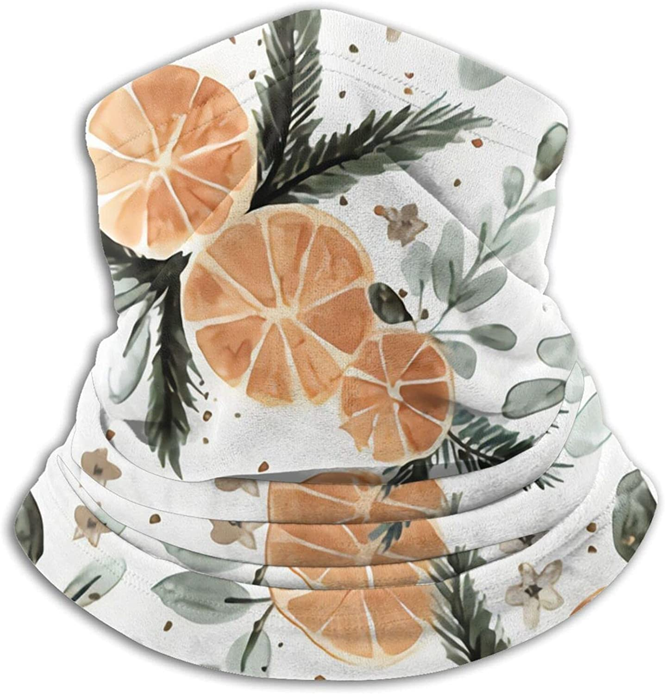 Orange Spice Pine Bandanas Neck Gaiter Face Mask Scarf Face Shield