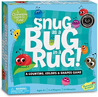 Peaceable Kingdom Snug as a Bug in a Rug Award Winning Preschool Skills Builder Game for Kids
