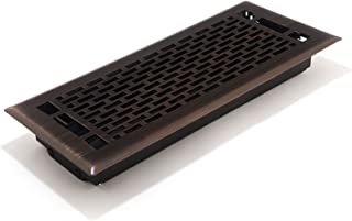 Accord AMFRRBMA412 Manhattan Floor Register, 4-Inch x 12-Inch(Duct Opening Measurements), Light Oil-Rubbed Bronze