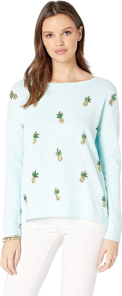 Whisper Blue Tossed Pineapple Embellishment