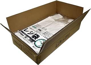 紺屋商事 レジ袋乳白東35号 1000枚入(100枚x10冊入)RAP00723135