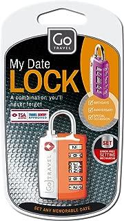 Go-Travel My Date Lock Luggage Lock, Assorted, 354