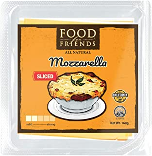 Food for Friends Mozzarella Sliced Cheese, 160 g - Chilled