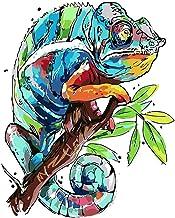 Pintar por Numeros Lagartija DIY Pintura por Números para Adultos Niños con Pinceles y Pinturas Hogar Decoración Regalo, 40x50cm Sin Marco