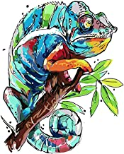 Paint by Numbers Adults and Kids Oil Painting Kit for Decorations and Gifts -Painted Chameleon 16x20inch (40x50cm) [No Frame]