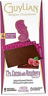 GuyLian Dark 72% Raspberry Block Chocolate, 100 g