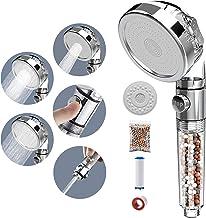 SINGSUO Douchekop met filter, 3 modi, eco-filter, douchekop, douchekop met minerale stenen, PP-katoenfilter, extra filters...