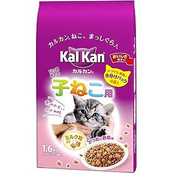カルカン ドライ 12か月までの子ねこ用 かつおと野菜味ミルク粒入り キャットフード かつおと野菜味 味ミルク粒入り 1.6kg