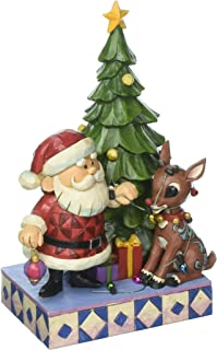 "Jim Shore ""Rudolph the Red-Nosed Reindeer"" Traditions, Tangled Rudolph Stone Resin Figurine, 7.75"