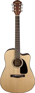 Fender Acoustic Guitars Folk Music Instruments 968686021 FA-300CE Acoustic Electric Dreadnaught Guitar with Slide Interface, Natural