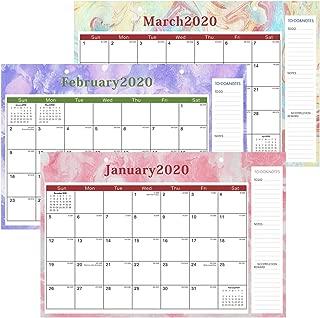 Desk-Calendar-2020-11x17-Desktop Pad Calendar Academic Wall Calendar Monthly Desk Blotter Family Calendar 12 Month