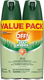 OFF! Deep Woods Insect & Mosquito Repellent VIII, DryTouch Technology, Long Lasting Protection 4 oz. (Pack of 2)