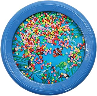 Fashionable LYH18P Ocean Wave Bead Drum Sea Sound Educational Toys for Gift Blue