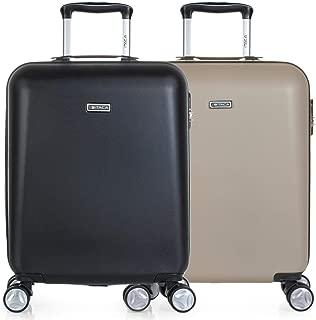 ITACA - Pack 2 Maletas de Viaje Rígidas 4 Ruedas 55x40x20