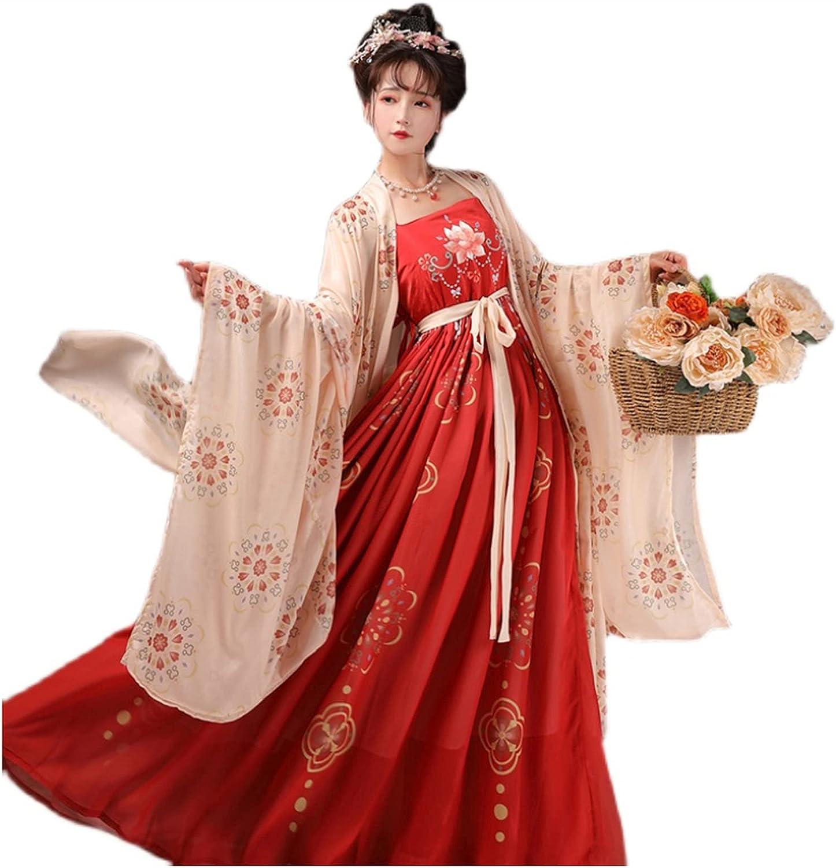 4 years warranty YANLINA Hanfu Chinese for Womens Fairy S Skirt Seasonal Wrap Introduction Traditional