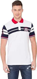 Vivid Mens Short Sleeve Patch Polo Shirt XXL,Size 44 - White