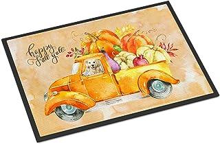 Caroline's Treasures CK2619MAT Fall Harvest Golden Retriever Indoor or Outdoor Mat 18x27, 18H X 27W, Multicolor