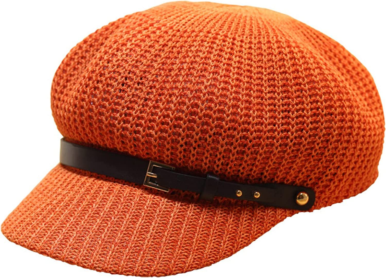 Spring Summer Artist Belt Beret Hat for Women Sun hat Visor Breathable Cap Outdoor Casual Painter Newsboy Hat