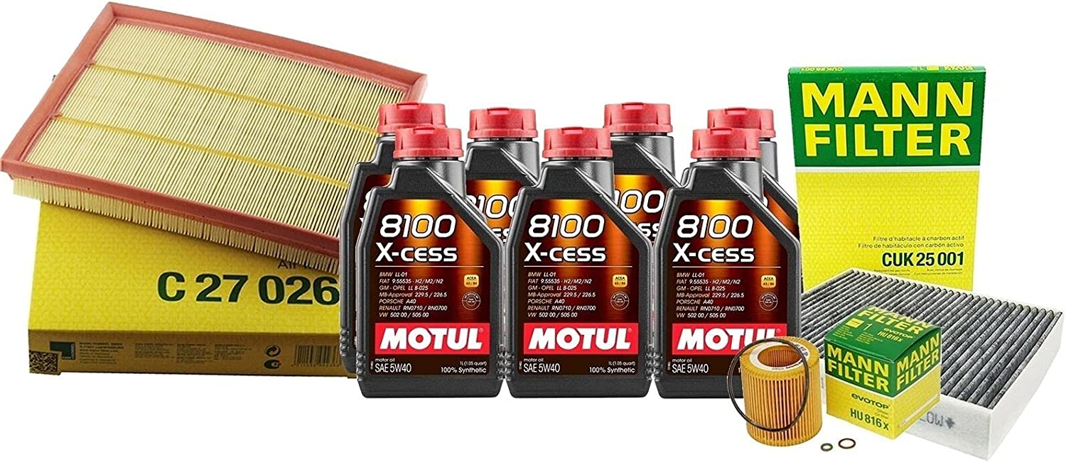 7L 8100 XCESS 5W40 Oil Filter with Compatible All stores are sold kit Service F87 Max 79% OFF M2