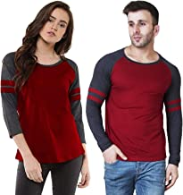 Veirdo Men's & Women's Regular Fit T-Shirt (Pack of 2)