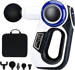 Delxo Massage Gun Deep Tissue Percussion Muscle Massager for Pain Relief, Handheld Electric Body Massager Hypervolt Portable Massage Gun Muscle Deep Relaxation Super Quiet Includes 5 Massage Heads
