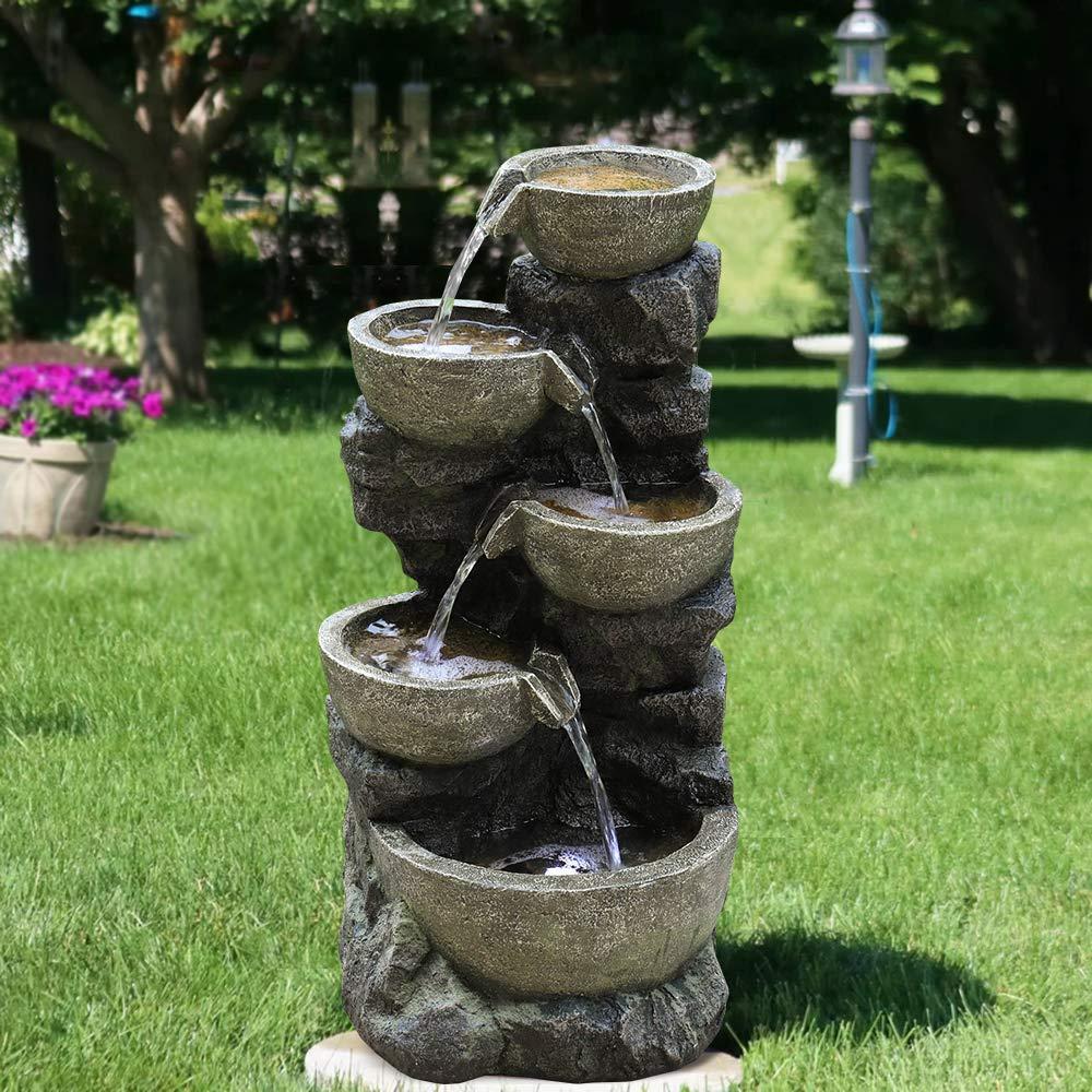 PeterIvan Outdoor Water Fountain Freestanding