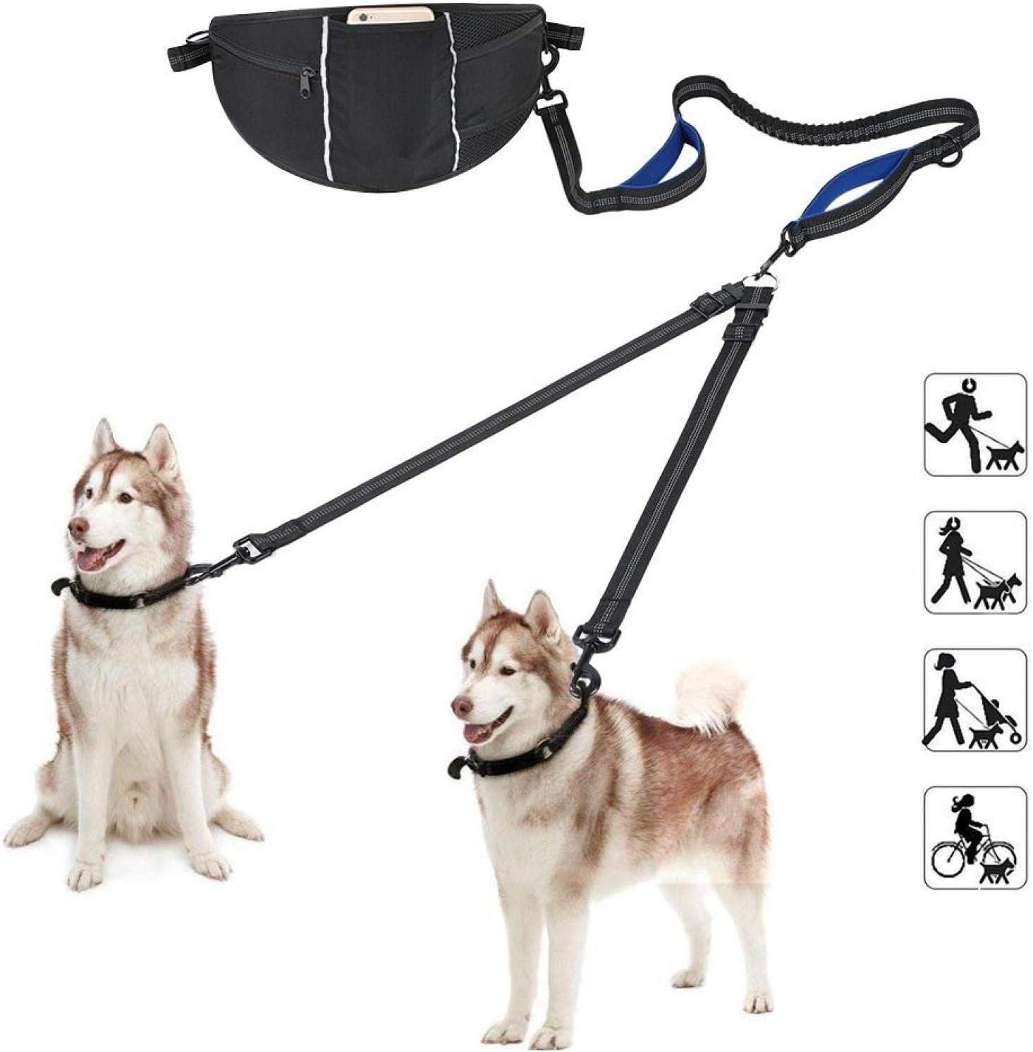 GLOGLOW Hands Outlet SALE Free Dog 5 ☆ popular Leash Belt Walking Double Reflective