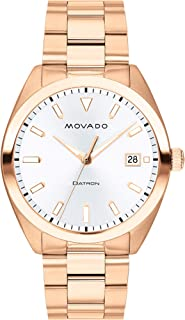 Movado Men's Heritage Rose Gold Watch with a Printed Index Dial, Pink/Gold/White (Model 3650058)