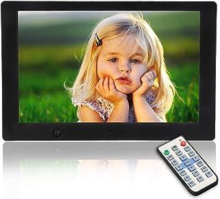 Digitale fotolijst, 10,1 inch USB IPS-display, 16:9 scherm, HD elektronische fotolijst voor smart home, afstandsbediening ...