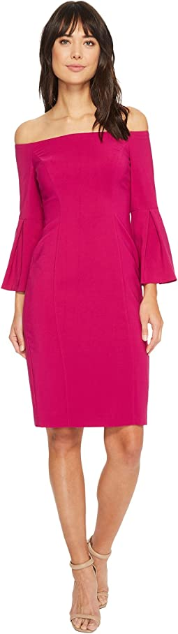 Vince Camuto - Crepe Bodycon Dress w/ Flounce Sleeves