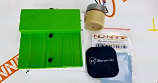 SharpenAir Airbrush Needle Sharpening Restoration kit with Compound and Microfiber. Green. Special by SprayGunner